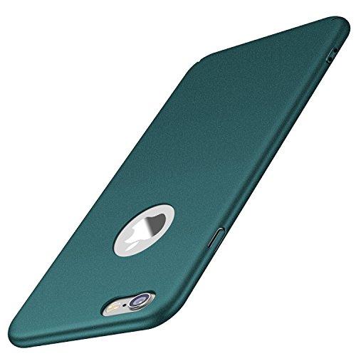 Arkour für iPhone 6S Hülle, iPhone 6 Hülle, Minimalistisch Ultradünne Leichte Slim Fit Handyhülle mit rutschfest Matte Oberfläche Hard Case für iPhone 6/6S (Kies Grün) Slim Fit Hard Case