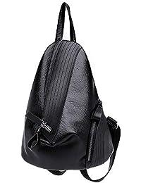 dcb1dbaefb5c7 YWLINK Damen Rucksack Mode Daypacks PersöNlichkeit ReißVerschluss Dreieck-Paket  Weiches PU Kleiner Rucksack Schulrucksack