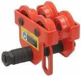 1tonelada Empuje carro de haz ajustable para vigas de ancho: 2–11/16'a 5–1/8'