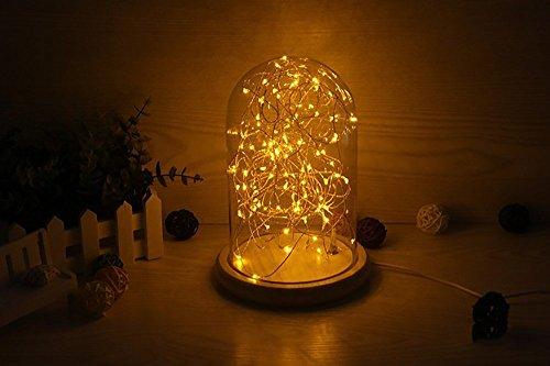 Petite lumière de nuit couvercle en verre solide bois borosilicate bouton lampe USB de charge rétro lampe de chevet LED barres décoratives étoiles d'économie d'énergie chaude jaune chaude lumière blanche