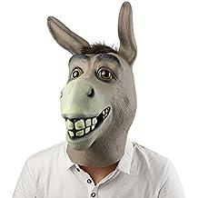 Máscara de Cabeza, Supmaker Animal de Látex de Fiesta de Traje Lujo de Halloween de Novedad Burro ( Color: Gris )