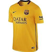 Nike FC Barcelona Away Stadium - Camiseta de mangas cortas para hombre, color dorado/azul, talla XL