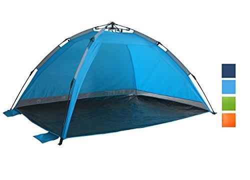 Strandmuschel Hellblau Strandzelt mit Schirmsystem Polyester blitzschneller Aufbau Wetter- und Sichtschutz Duhome UBT-002