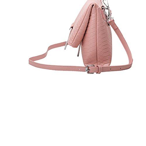 Yy.f Arbeiten Schulterhandtaschen Handtaschen Aus Leder Damen Krokodilmuster Diagonal Beutel Massiv Beutel 3 Farben Taschen Pink