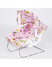 FLIPZON 9-in-1 Carry Cot/Bouncer for Baby with Mosquito Net & Sun Shade - Pink