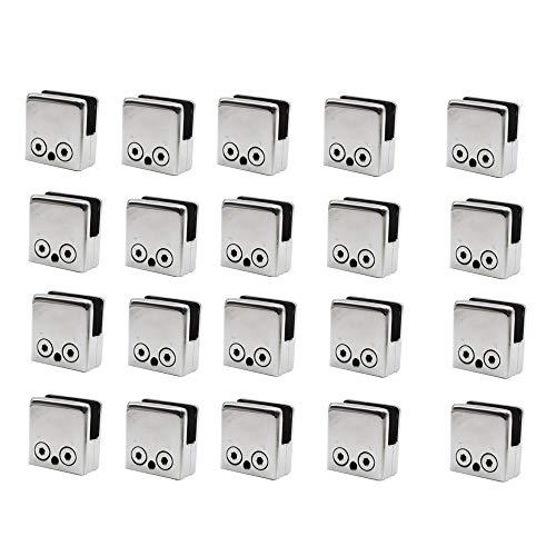 Z&Y 20PCS 8-10mm Abrazaderas de Vidrio de Acero Inoxidable 304 Soporte de...