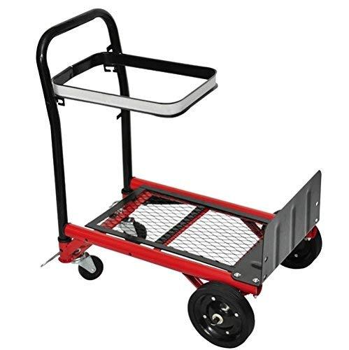 VidaXL 140098 Einkaufstrolley, zusammenklappbar, mit Plattform