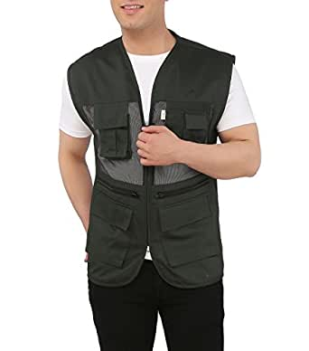 Ashdan Photographer Vest. Sleeveless Regular Size Outdoor Jacket. Netted Ventilation. Adjustable Waist. Multi-Utility Pockets