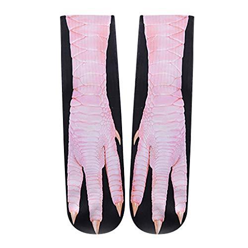(YWLINK Lustige Coole Tierpfote Drucken Gute Geschenkidee, EinheitsgrößE 3D Print Socken Neuheit Tierpfoten Crew Socken FüR Trend Socken Damen Herren Unisex)