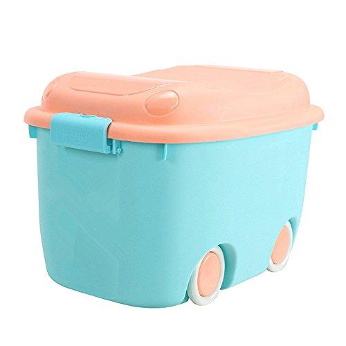 Sumferkyh Aufbewahrungsbox mit Deckel errichtete Kleidung Aufbewahrungsbox mit Deckel und Rädern Koffer (Farbe : Blau)