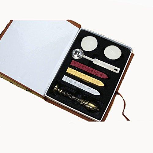 Metall Klassische Dichtung Wachs Set Stick Stempel für Buchstaben Einladung Siegel Wachs Siegel - 3