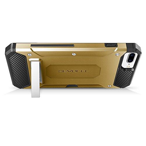 iPhone 7 Plus Case, Evocel [Explorer Series Pro] Premium Dual Layer Protector [Metal Kickstand][Credit Card Slot] For iPhone 7 Plus / iPhone 6 Plus (5.5 inch), Black (EVO-IPH7PLUS-CK01) Gold Medal