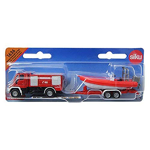 Siku 1636 - Unimog Feuerwehr mit Boot 1:87