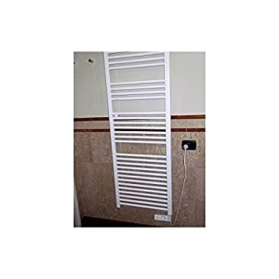 Badheizkörper Handtuchwärmer H1375X L480Heizer Elektro weiß mit Thermostat von CORTINA bei Heizstrahler Onlineshop
