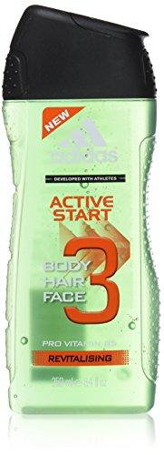 adidas 3in1 Active Start Duschgel 250 ml, 3er Pack (3 x 250 ml)