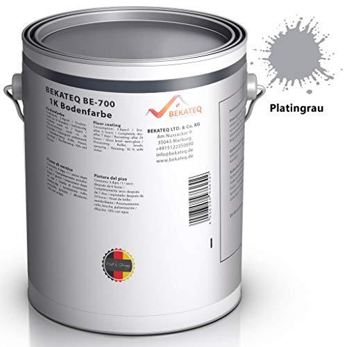 BEKATEQ BE-700 Bodenbeschichtung, 5l Platingrau, Betonfarbe seidenmatt, für innen und außen