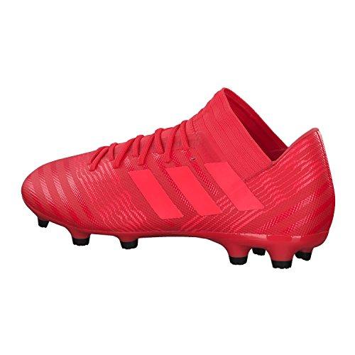 Scarpe Da Calcio Adidas Nemeziz 17.3 Fg Uomo, Bianche Neon Rosse