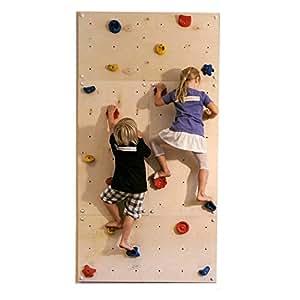 Parete da arrampicata IW4 240 x 120 cm con 20 pietre - indoor