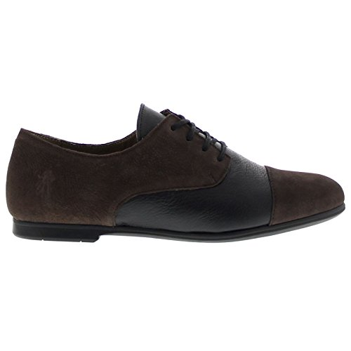 FLY London Mise616fly, Brogues Femme Chocolate/black