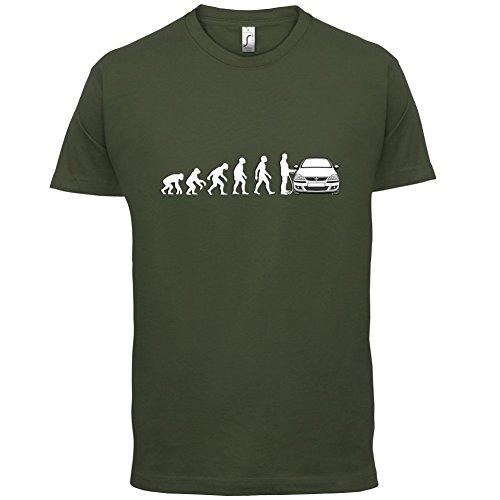Evolution of Man - Corsa Fahrer - Herren T-Shirt - 13 Farben Olivgrün