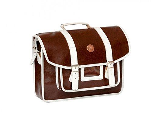 BIKEBELLE® CRACOVIE Retro Fahrrad Gepäckträgertasche (Einseitig Leder Classic Style Wasserabweisend Tragegriff) Brown