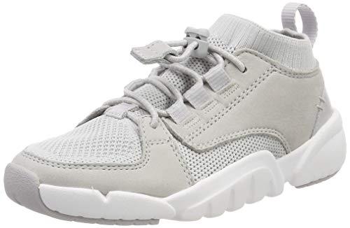 Clarks Jungen Tri Lunar K Hohe Sneaker, Weiß (Off White Combi), 31 EU -