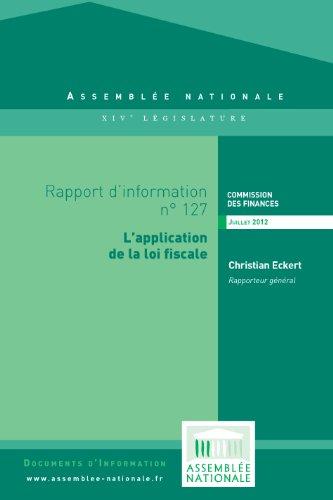 Couverture du livre Rapport d'information sur l'application des mesures fiscales contenues dans les lois de finances