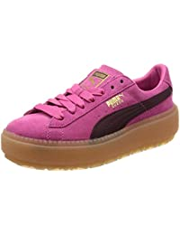 Puma Platform Trace Block Damen Sneaker Dunkel Rot: Amazon