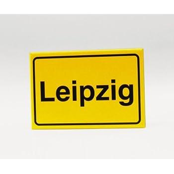 Magnet Kühlschrank-Magnet Ortsschild Leipzig: Amazon.de: Küche ...