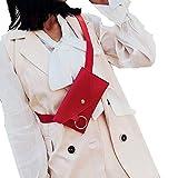 Zilosconc Moda Mujer Anillo de Color Puro Cuero Messenger Bandolera Bolso de Pecho Bolsillos de Mensajero del Hombro Monedero movil Pequeño Paquete Cuadrado