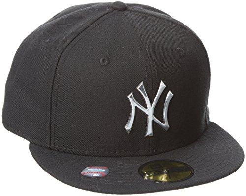 New Era Ne Remix Liquid Logo Neyyan Blk - Cappello Linea New York Yankees da Uomo, colore Nero, taglia 7 3/8
