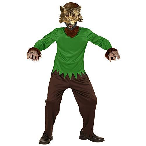 Widmann 00235 - Kinderkostüm Werwolf, Overall und Maske, Größe 116, braun (Disfraces De Halloween De Hombres)