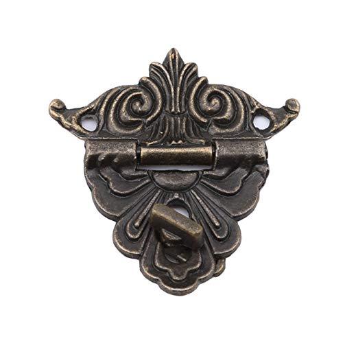 Bigsweety Metallschnalle Fang Latch Mini Verschluss Fall Lock Scharniere Legierung Für Vintage Schrank Schmuckschatulle -