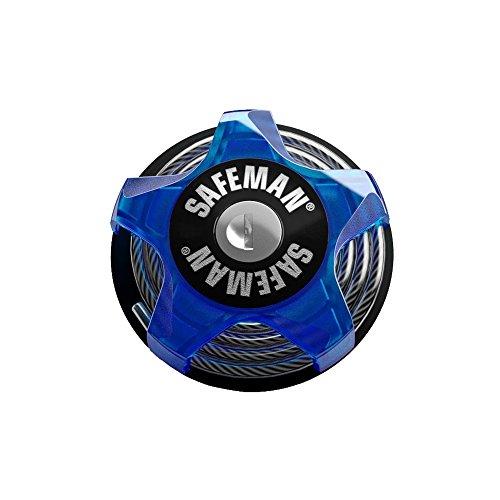 safeman Multifunktions-Kabelschloss Blau