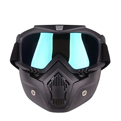 YHL Motocross-Brille Motorrad-Maske Mit Brille Mit Winddichtem Sand Anti-Friction Abnehmbar Für Das Fahren Im Freien,E -