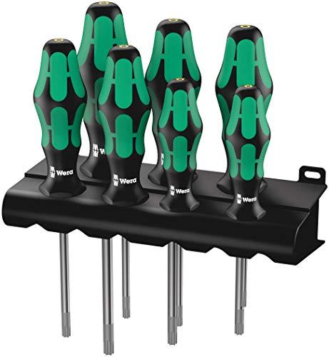 Wera TORX® HF Schraubendrehersatz Kraftform Plus 367/7  mit Haltefunktion + Rack, 7-teilig, 05223161001 -