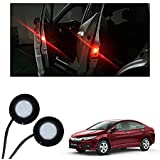 Exclusive Gadgets Inc Wireless Car Door Open Automatic Red Strobe Warning Light For Anti Collision, 1 Pair