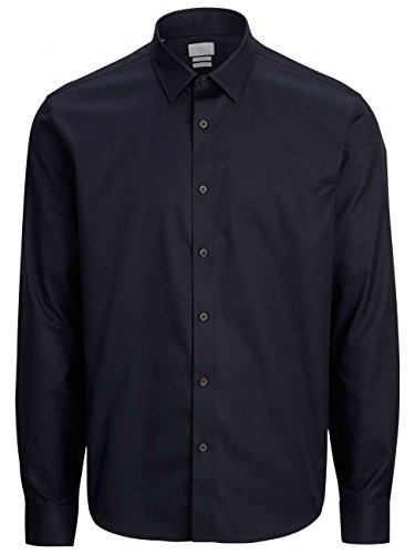 Selected Pelle Caracas - Chemise habillée - Taille ajustée - Manches longues - Homme Bleu marine Blazer