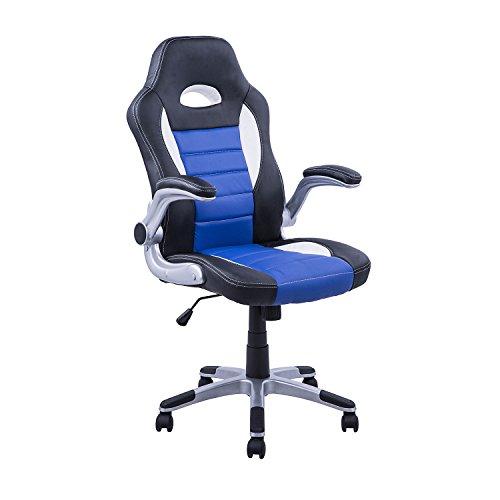 Homcom - Silla oficina ejecutiva deportiva sillón estudio dirección ...