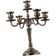 Schnelle Farbe Antiker Kerzenständer Messing Massiv Kerzenhalter