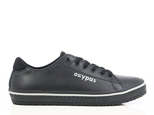 OXYPAS Clark Berufsschuh Leder, ESD, SRC Black