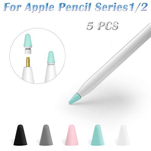 Hülle Für Kondensatorstift, Webla 5Pcs Hülle Für Apple Pencil 1/2, Silikon -
