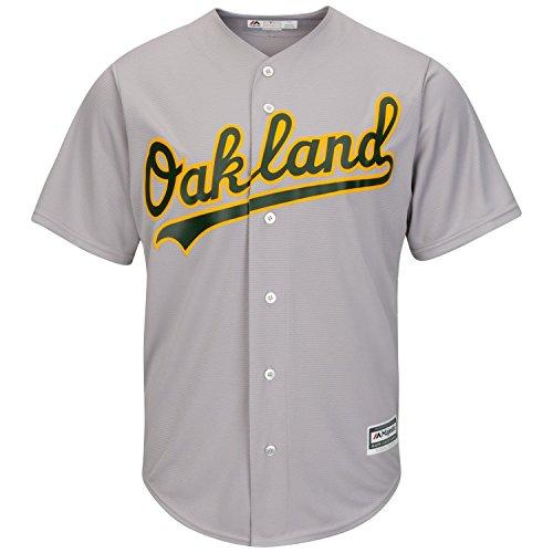 Majestic Athletic Oakland Athletics Cool Base MLB Replica Jersey Grey Baseball Trikot Tee T-Shirt -