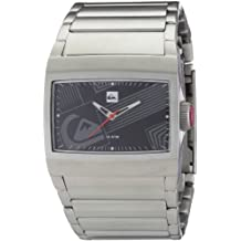 Quiksilver M145BF 2T - Reloj analógico de caballero de cuarzo con correa de acero inoxidable plateada
