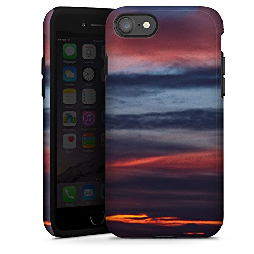 Apple iPhone X Silikon Hülle Case Schutzhülle Sonnenuntergang Himmel Wolken Tough Case glänzend
