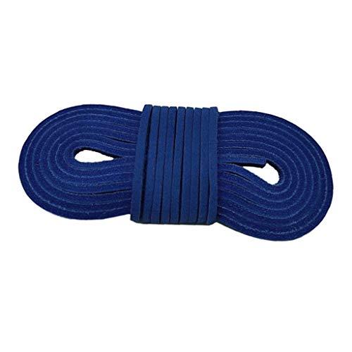 Baoblaze Premium Leder Schnur Faden Lederschnürsenkel Lederschnur Lederband für Handwerk DIY Schmuck Schnürsystem - Blau, M