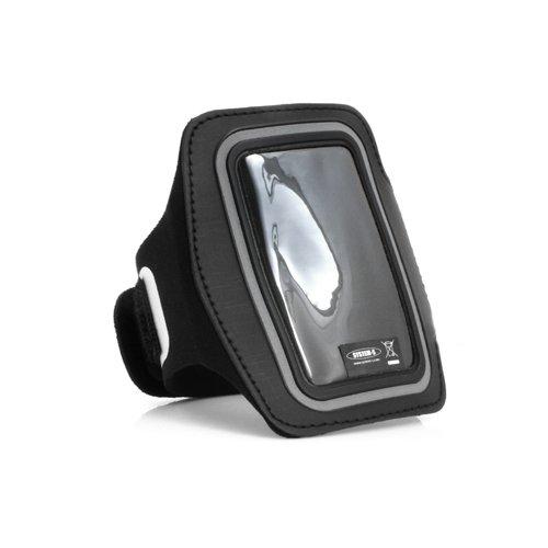 System-S Sport Lauf Fitness Armband Jogging Case Oberarm Tasche Hülle Schutzhülle in Schwarz für iPod Nano 7G