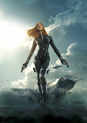 CAPTAIN AMERICA THE WINTER SOLDIER – US TEXTLESS – Imported Movie Wall Poster Print – 30CM X 43CM Brand New BLACK WIDOW
