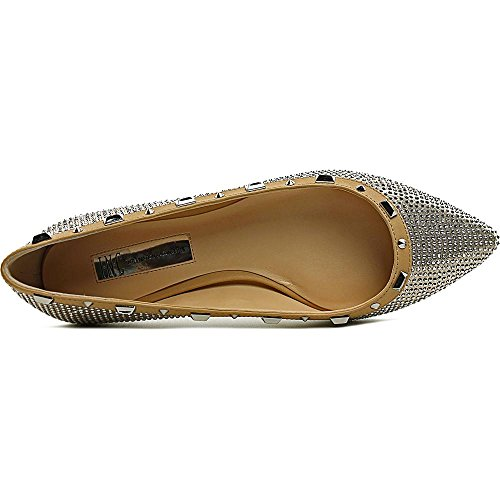 INC International Concepts Zabbie2 Toile Chaussure Plate Pearl Gold