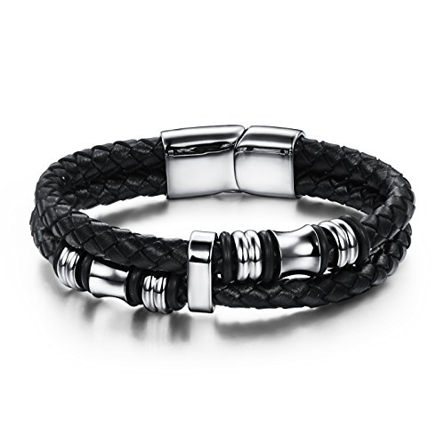 jstyle-gioielli-bracciali-cuoio-da-uomini-delacciaio-inossidabile-in-pelle-intrecciata-nero